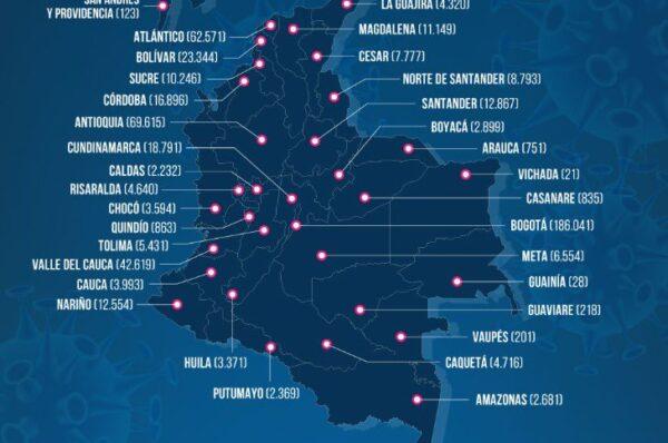 Covid-19 deja 400 muertes y 10.965 nuevos casos en Colombia